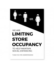 "Store Occupancy Poster 11"" x 17"" Black Pack of 6"