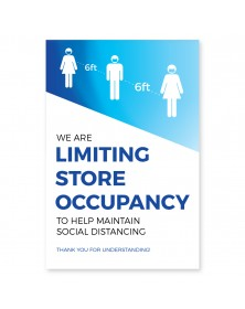 "Store Occupancy Poster 11"" x 17"" Blue Pack of 6"