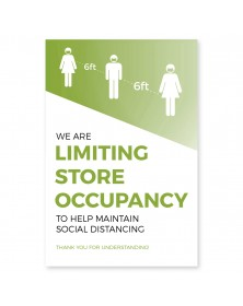 "Store Occupancy Poster 11"" x 17"" Green Pack of 6"