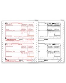 Continuous W-2 Tax Forms - Twin Sets, 6-part