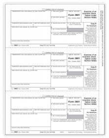3921 Laser Tax Forms - Exercise Of Stocks - Copy B