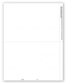 Blank Laser 1099 Tax Forms - 2-Up