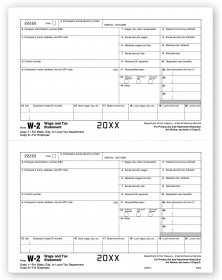 Laser W-2 - Tax Forms Employer Copy 1, Bulk Carton