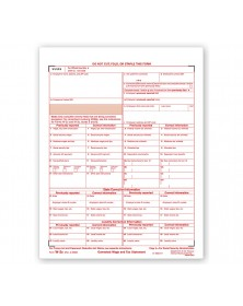 Laser W 2C Corrected Wage & Tax Statement, SSA Copy A