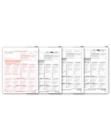 Laser W 2C Corrected Wage & Tax Statement Set, 4 part