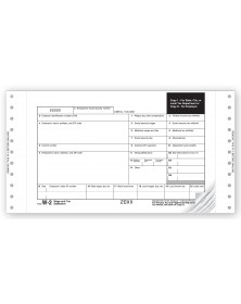 Continuous W-2 Tax Forms - One Wide Mailer, 3-Part