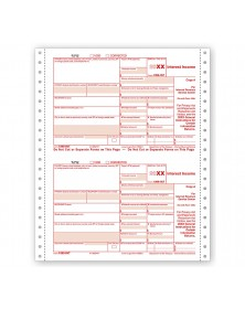 Continuous 1099 INT Income Carbonless Electronic Filing