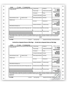 Continuous W-2G Tax Forms