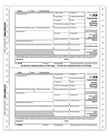 Continuous W-2G Tax Forms,  6-part