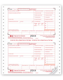 Continuous W-2 Tax Forms - Employer Set