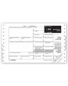 Continuous 1099 MISC Income Self Mailer, 3 part, Carbon