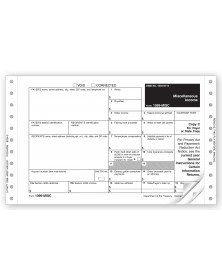 Cont 1099 MISC Income Self Mailer 3 pt Carbon Dateless