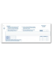 Mini-Writer® Journals (MW400NJ) - One-Write Checks  - Business Checks | Printez.com