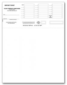 image relating to Free Printable Deposit Slips Template for Quickbooks known as QuickBooks Deposit Slips: Company QuickBooks Deposit