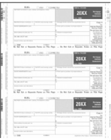Continuous 1098 Tax Forms - Part A, Self-Mailer