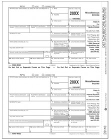 Laser 1099 MISC Income, Federal Copy A, Bulk