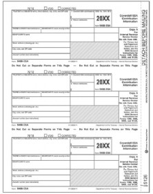 Laser 5498-ESA Tax Forms Federal Copy A