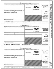Laser 5498-ESA Tax Forms Beneficiary Copy B