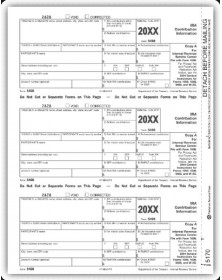 Laser 5498 Tax Forms - Federal Copy A