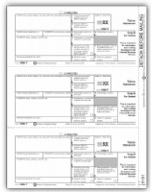 Laser 1098-T Tax Forms - Student Copy B, Tuition Statement
