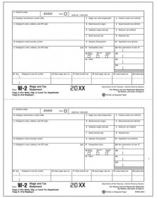 Laser W-2 - Tax Forms Employee Copy 1