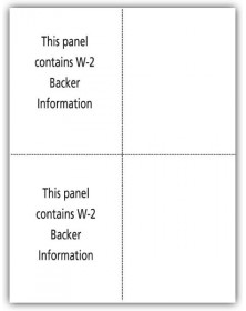 Blank Laser W-2 Tax Forms - Vertical Format, 4-Up