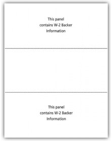 Blank Laser W-2 Tax Forms - 3-Up