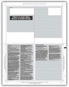 Blank Laser W-2 Tax Forms - Pressure Seal, 4-Up