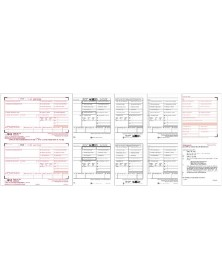 Laser W-2 Tax Forms Kit, 4-part - 50/Pkg