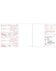 Blank Laser W-2 Tax Forms - 2-up - 6-Part