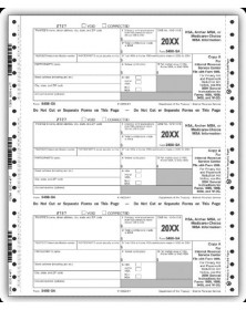Continuous 5498-SA Tax Forms, 4-part