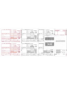 Laser 1099-MISC Tax Forms Miscellaneous Income, 3-Part - 50/Pkg With Envelopes