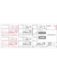 Laser 1099-MISC Tax Forms Miscellaneous Income, 4-Part Kit With Envelopes - 50/Pkg