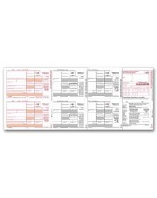 Laser 1099-DIV Tax Forms Dividend Income, 4-Part Kit - 50/Pkg