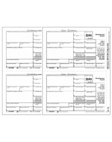 Laser 1099 MISC Income Electronic Filing Set, 3 part