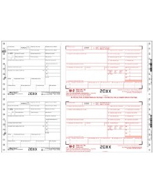 Continuous W-2 Tax Forms - Two Wide Sets, 4-Part