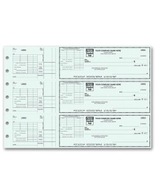 3-To-A-Page Checks with Voucher Stub (53223N) - 3-To-A-Page Checks  - Business Checks