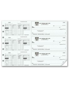 3-To-A-Page Payroll Checks with Maximum Deductions (53229N) - 3-To-A-Page Checks  - Business Checks | Printez.com