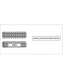 Double-Window Envelope Tax Forms - Horizontal W-2, 3-Up