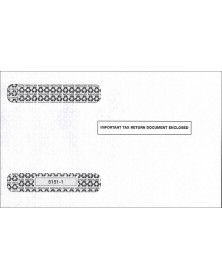 Double-Window Envelope Tax Forms - Horizontal W-2, 4-Up
