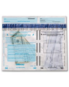 Horizontal Dual-Pocket Cash Deposit Bags (53859) - Deposit Slips  - Business Checks | Printez.com
