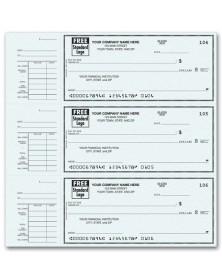 End-Stub Personal Checks, Printable Business Checks