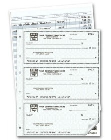 Duplicate Personal Size Checks (56500N) - 3-To-A-Page Checks  - Business Checks