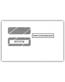 2017 1099 2 Up Double Window Envelope, Self Seal
