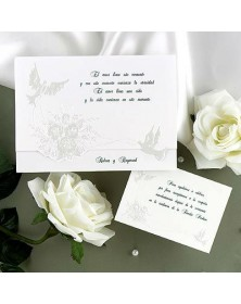 Doves and Pearls (JA975-87) - Select By Budget  - Wedding Invitations | Printez.com