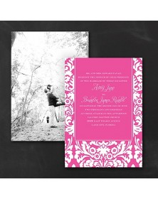 Dramatic Damask - Photo Invitation
