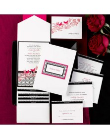 Sweet Songs White Pocket (FBN9231BKL31-73 ) - Select By Budget  - Wedding Invitations | Printez.com