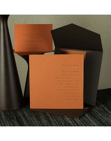Chocolate Self-Mailer with a Harvest Card (WAN9322) - Other Invitations  - Wedding Invitations | Printez.com