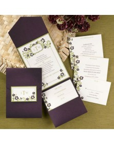 Country Chic Raisin Pocket with Olive (FBN3069OLL25-70) - Select By Budget  - Wedding Invitations | Printez.com