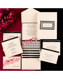 Sweet Songs Ecru Pocket (FBN9351BKL31-70 ) - Select By Budget  - Wedding Invitations | Printez.com